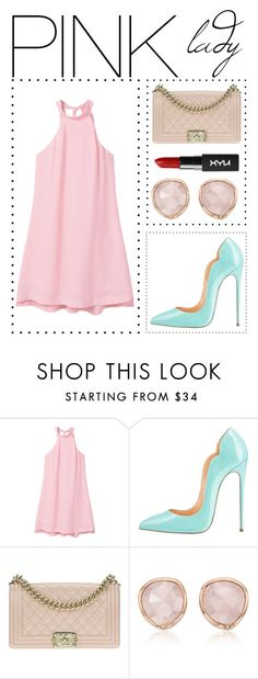 """""""pink lady"""" by aasaayaa ❤ liked on Polyvore featuring MANGO, Chanel and Monica Vinader"""