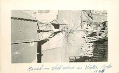 Real Photo Postcard Gold Mine Cave-In, Victor, Colorado in 1946