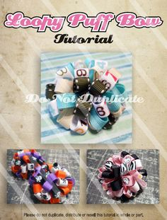 Hairbow Tutorial How To Make Loopy Puff Bows by ichigosupply