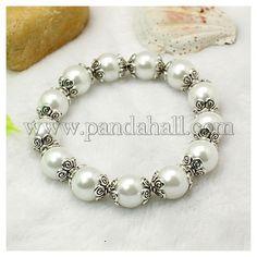 Carnival Jewelry Glass Pearl Stretchy BraceletsBJEW-JB00622-01-1