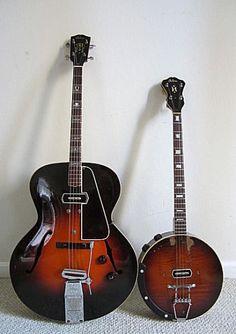 1940 Gibson ETG150 Electric Tenor Guitar & 1938 Gibson ETB150 Electric Tenor Banjo