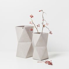 Origami Inspired KAMI Vases by KAMI. DESIGN made in Germany on CROWDYHOUSE