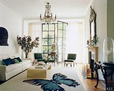 Tabitha Simmon's home courtesy of Vogue. (Doors)