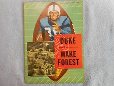 Vintage College Football Program Oct 19 1957 DUKE Vs Wake Forest Thick 68 Pages