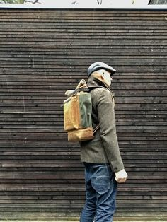 waxed canvas backpack / waterproof backpack with by treesizeverse
