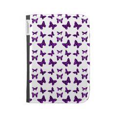 Purple Leopard Print Butterfly Pattern Kindle Cover