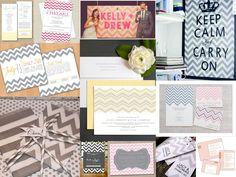 chevron wedding theme | Chevron Wedding Trends | Fantastical Wedding Stylings