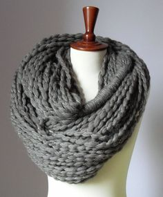 I love big, knitted infinity scarves @April Murray, @Lindsay Robertson, would it be hard to knit an infinity scarf?