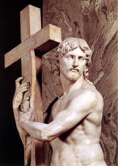 Bible In My Language / Christ with Cross, Michelangelo, Rome