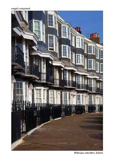 This distinctive terraced crescent is on the seafront in the City of Brighton, East Sussex, England. Brighton Sussex, Brighton Rock, Brighton And Hove, East Sussex, Brighton England, Stonehenge, Uk Beaches, Ireland Uk, City By The Sea