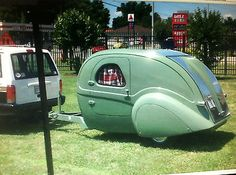 AEROLUX TEARDROP TRAILER 1940`s STYLED DIY KIT, TOW BEHIND 1946 FORD ...