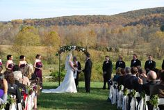 Beautiful hilltop wedding in the Fall!