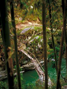 Bamboo bridge  Arun Valley, Nepal... Just Lovely.