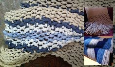 Macrame throw from old t-shirts - repurposing at its best, and this site has a great step by step tutorial.