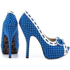 Bettie Page Women's Gwendolyn - Blue White