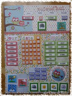 The Creates. from Nakin'_Un chouette Semainier (Perpetual calendar) Classroom Organization, Classroom Decor, Toddler Activities, Learning Activities, Classroom Calendar, Diy Calendar, Autism Education, French Classroom, Teacher Tools