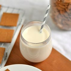 Vanilla Maple Almond Milk HealthyAperture.com