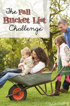 The Fall Bucket List Challenge. Get the kids excited.
