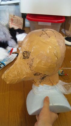 tutorial for making a Japanese fox mask (in English!)