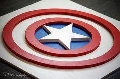 Superhéroe Capitán América arte de la pared arte de pared de