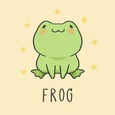 Exotic pets rene frog, tiana princess and the frog, frog tattoo, frog illustration kids, frog drawi. Cute Cartoon Drawings, Cute Cartoon Animals, Cute Animal Drawings, Kawaii Drawings, Tier Doodles, Cute Doodles, Frosch Illustration, Cute Illustration, Funny Frogs