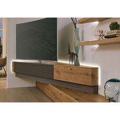 lowboard in braun eichefarben lowboards wohnwande wohnzimmer produkte tv wand wohnzimmer