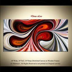 Paleete Knife Swirl Texture Original Abstract by orignalmodernart, $380.00