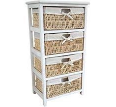 3 Drawer Storage cabinet with 3 baskets - Shelf - Storage unit ...