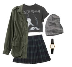 """""""crystal castles"""" by californiapunx ❤ liked on Polyvore featuring Monki, American Apparel and Barts"""