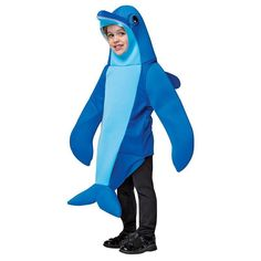 Kids Dolphin Costume, Kids Unisex, Blue