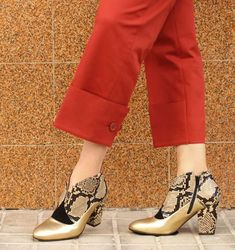 boots ELGI by Chie Mihara Soft Suede, Soft Leather, Beige, Free Clothes, Snake Print, Calves, Burgundy, High Heels, Leather