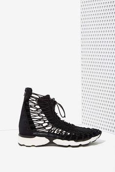 Jeffery Campbell neoprene sneaker.