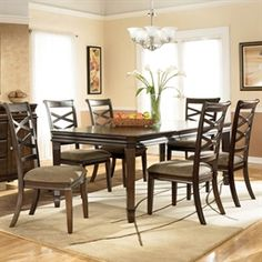 Signature Design by 7-Pc. Hayley Rectangular Dining Set 899.00