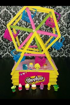 Found pic on Facebook- Shopkins Craft Ferris Wheel