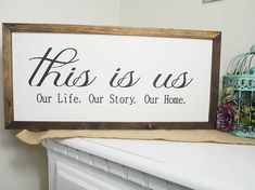 Hey, I found this really awesome Etsy listing at https://www.etsy.com/listing/568342057/this-is-us-wooden-sign-farmhouse-style