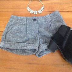 Black and white tweed shorts GORGEOUS. Only worn once Ruby and jenna Shorts