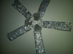 Ceiling Fan Covers. $45.00, via Etsy … why pay $45 bucks when you could mix Modge Podge with glitter