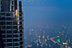 Shanghai Evening Construction  #city #shanghai #evening #construction #photography