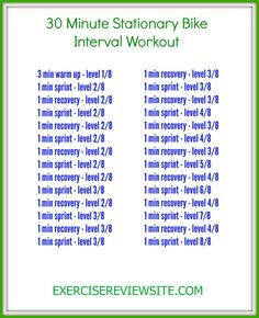 02a71bccc6c 30 Minute Stationary Bike Interval Workout ...