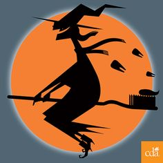 Happy Halloween from CDA! Witch riding a toothbrush (of course). #halloween #dentistry