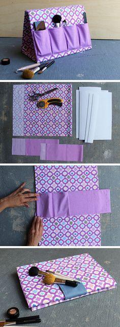 A – Frame Make Up Organizer | 32 DIY Storage Ideas for Small Spaces | DIY Organization Ideas for Small Spaces