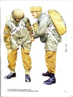 R.A.F. - 1. Caporalmaggiore del Reggimento Paracadutisti, 1942 - 2 Tenente Colonnello E.F. Down, 1° Battaglione Paracadutisti, 1940-41