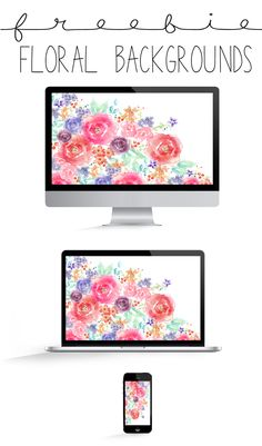 FREEBIE FLORAL DESKTOP + IPHONE + TABLET BACKGROUNDS | THE PAPER CURATOR