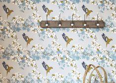 Designer Bird Wallpaper - Greenfinch - FREE UK SHIPPING