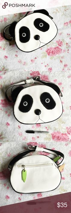 Large Panda Crossbody Purse  An adorable, Kawaii Large Panda Face Bag !  New with tags, the strap is wrapped still!   The sharpie is for scale  There are two small marks on the bag, shown in the third picture, that were there when purchased. They are not noticeable when wearing  Fuego Bags Crossbody Bags