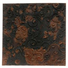 LILLYPILLY COPPER SHEET METAL WHIMSY SCROLL EMBOSSED MOTTLED PATINA 36 GAUGE 3X3 IN from beadaholique.com