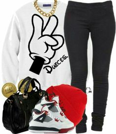 A fashion look from January 2013 featuring Friis & Company shoulder bags, Chanel earrings and Vila Milano leggings. Browse and shop related looks. Cute Swag Outfits, Dope Outfits, Outfits For Teens, Winter Outfits, Summer Outfits, Casual Outfits, Urban Fashion, Look Fashion, Teen Fashion
