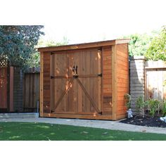 ANother nice shed.  Outdoor Living Today SpaceSaver Wood Lean-To Shed