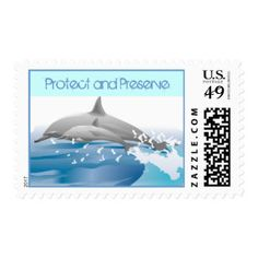 Dolphins Protect and Preserve Ocean Environment Postage