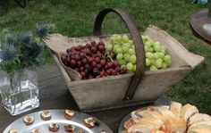 Antique French Grapes Gathering Basket for Wine. Circa 1900.
